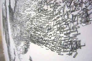 ホッチキスの針アート その2