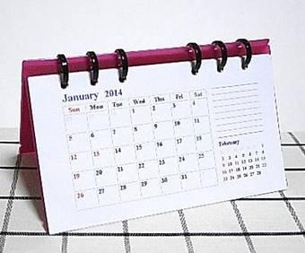 卓上カレンダーにもなるスケジュール帳